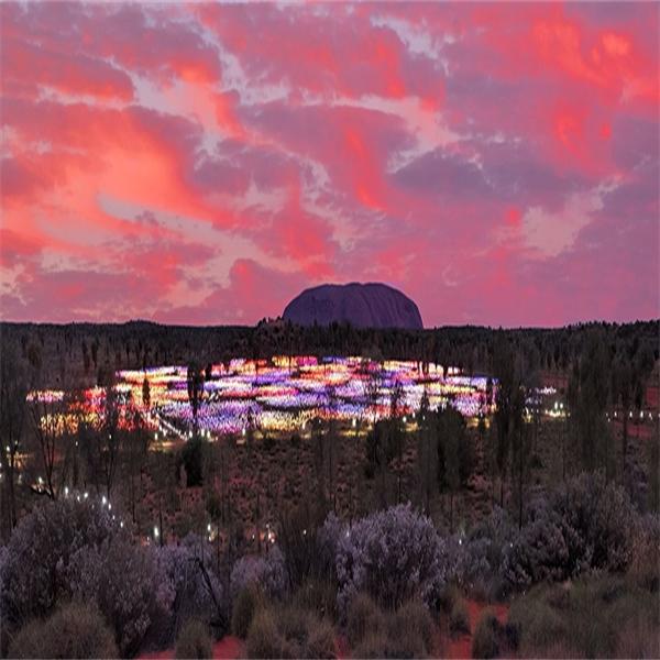 Magisk ljusinstallation vid Uluru förlängs