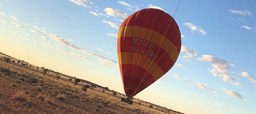 High high up in the sky! The Australian Outback from above