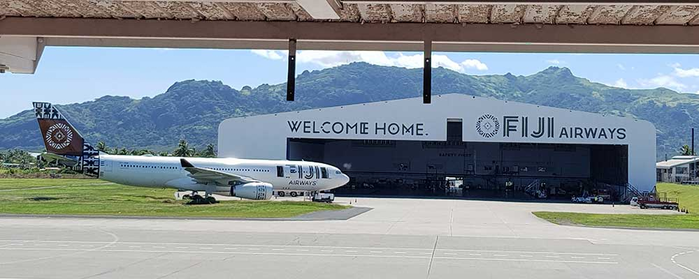 Varm ambiance ombord Fiji Airways