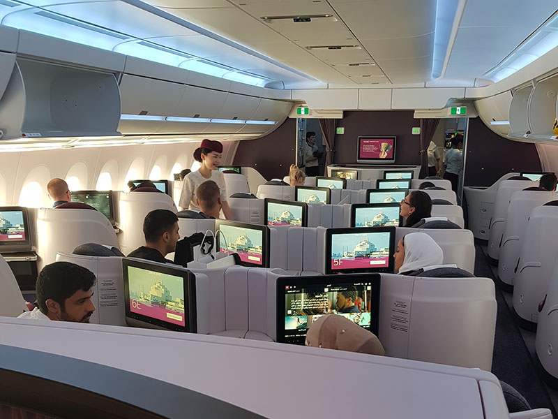 Qatar Airways Business Class kabin